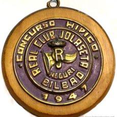 Trofeos y medallas: TROFEO DE EQUITACIÓN - CONCURSO HIPICO - 1947. Lote 51231344