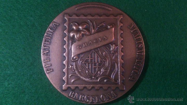 MEDALLA XLIV EXPOSICIO FILATELICA GRACIA , 1993, JURAT. (Numismática - Medallería - Trofeos y Conmemorativas)