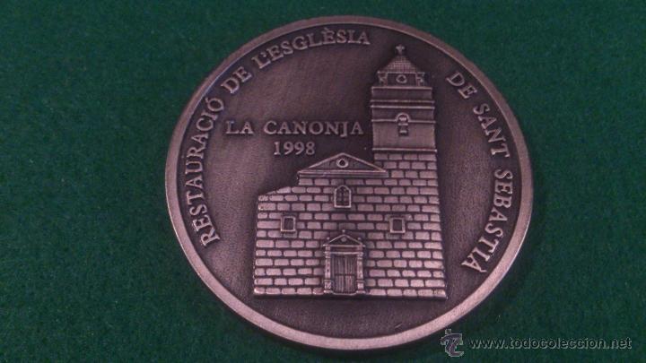 MEDALLA XVI DESENA CULTURAL, GRUP FILATELIC I NUMISMATIC DE L'ORFEÓ CANONGÍ, LA CANONJA 1998 (Numismática - Medallería - Trofeos y Conmemorativas)