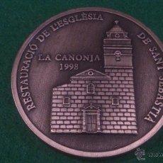 Trofeos y medallas: MEDALLA XVI DESENA CULTURAL, GRUP FILATELIC I NUMISMATIC DE L'ORFEÓ CANONGÍ, LA CANONJA 1998. Lote 52348240