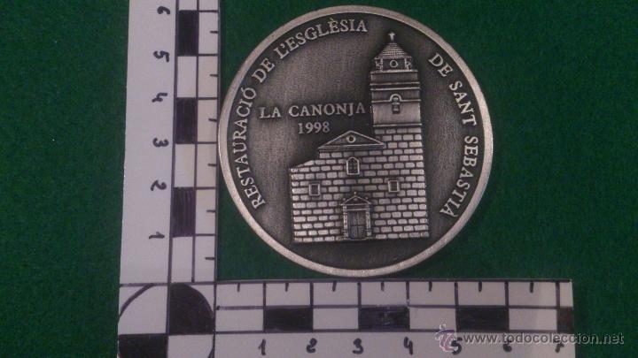 Trofeos y medallas: MEDALLA XVI DESENA CULTURAL, GRUP FILATELIC I NUMISMATIC DE LORFEÓ CANONGÍ, LA CANONJA 1998 - Foto 2 - 52348240