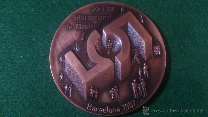 MEDALLA 55 FIRA INTERNACIONAL DE MOSTRES, BARCELONA 1987, DE PUJOL. (Numismática - Medallería - Trofeos y Conmemorativas)