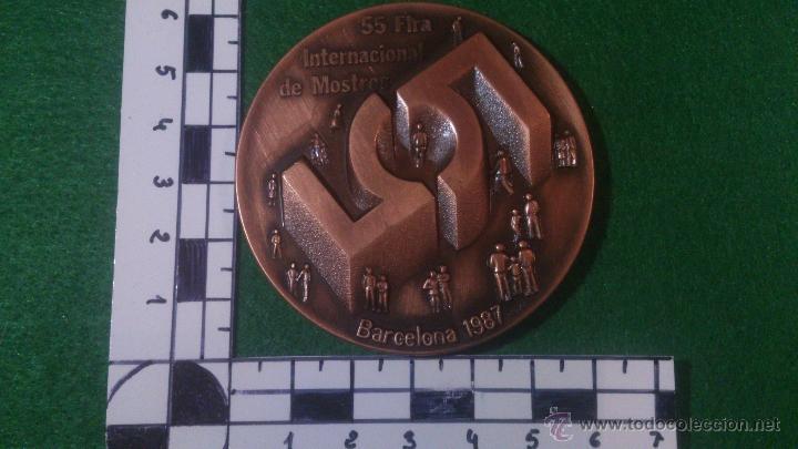 Trofeos y medallas: MEDALLA 55 FIRA INTERNACIONAL DE MOSTRES, BARCELONA 1987, DE PUJOL. - Foto 2 - 52363136