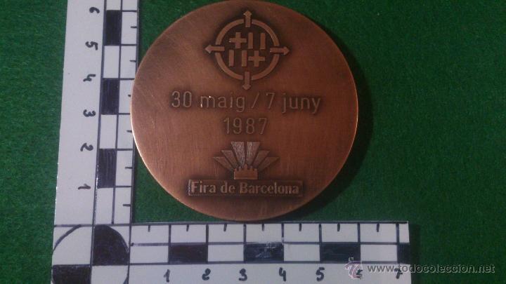 Trofeos y medallas: MEDALLA 55 FIRA INTERNACIONAL DE MOSTRES, BARCELONA 1987, DE PUJOL. - Foto 3 - 52363136