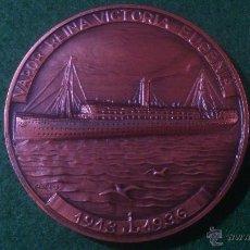 Trofeos y medallas: MEDALLA XXXI SALON NAUTICO INTERNACIONAL 1992 BARCELONA,VAPOR REINA VICTORIA EUGENIA, DE VALLMITJANA. Lote 52363254