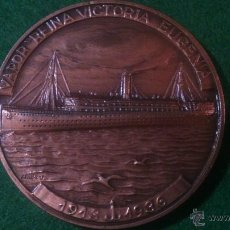 Trofeos y medallas: MEDALLA XXXI SALON NAUTICO INTERNACIONAL 1992 BARCELONA,VAPOR REINA VICTORIA EUGENIA, DE VALLMITJANA. Lote 52363321
