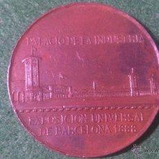 Trofeos y medallas: MEDALLA EXPOSICION UNIVERSAL, PALACIO DE LA INDUSTRIA, BARCELONA 1888 , F. SALA.. Lote 52378092