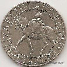 Trofeos y medallas: MEDALLA CONMEMORATIVA DEL JUBILEO DE PLATA DE ISABEL II. 1977. Lote 52457341
