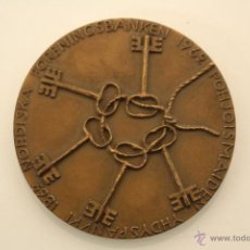 Trofeos y medallas: MEDALLA GRAN FORMATO CENTENARIO BANCO ``NORDISKA´´ 1862-1962. Lote 52500438