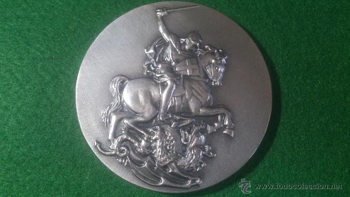 MEDALLA XVIII EXHIBICIÓ FILATELICA I NUMISTATICA, SANT JORDI, 1991 PLATA (Numismática - Medallería - Trofeos y Conmemorativas)