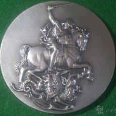 Trofeos y medallas: MEDALLA XVIII EXHIBICIÓ FILATELICA I NUMISTATICA, SANT JORDI, 1991 PLATA . Lote 52505384