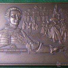 Trofeos y medallas: MEDALLA EXFIGALICIA '90, CIRCULO FILATELICO, DE JNÁCIO SANTOS, 1788-1988 CARLOS III Y LA ILUSTRACIÓN. Lote 52521247