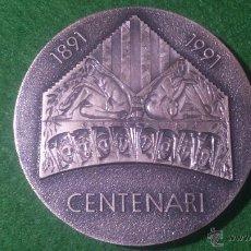Trofeos y medallas: MEDALLA CENTENARI ORFEÓ CATALÀ 1891-1991, C.F.N.B. 'TEMA MUSICAL' DE PUJOL. Lote 52521325