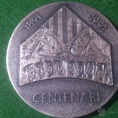 Trofeos y medallas: MEDALLA CENTENARI ORFEÓ CATALÀ 1891-1991, C.F.N.B. 'TEMA MUSICAL' DE PUJOL. Lote 52521359
