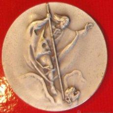 Trofeos y medallas: MEDALLA III EXHIBICIÓN FILATELICA Y NUMISMATICA SANT JORDI Y CATALUNYA 1976 PLATA 50MM SAN JORGE. Lote 52570064