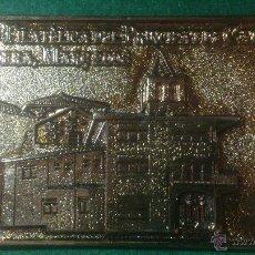 Trofeos y medallas: MEDALLA LINGOTE V EXPO FILATELICA DEL PRINCIPAT DE CATALUNYA, TORDERA, 2008.. Lote 176130733