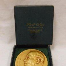 Trofeos y medallas: MEDALLA CONMEMORATIVA DEL NACIMIENTO DE JOAN MIRO EN BARCELONA 1893. CALICÓ. BARNA. MCMLXVIII.. Lote 52750450