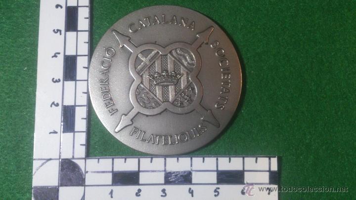 Trofeos y medallas: MEDALLA 38 ANIVERSARI ATENEU SANTCUGATENC 1956-1994, F.C.S.F.,PLATA DE LEY, 925. - Foto 2 - 53048832