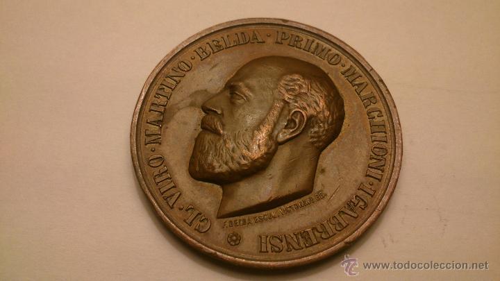 FRANCISCO BELDA Y PÉREZ DE NUEROS Y ROSA MÉNDEZ DE SAN JULIÁN (MARQUESA DE CABRA) BRONCE (Numismática - Medallería - Trofeos y Conmemorativas)