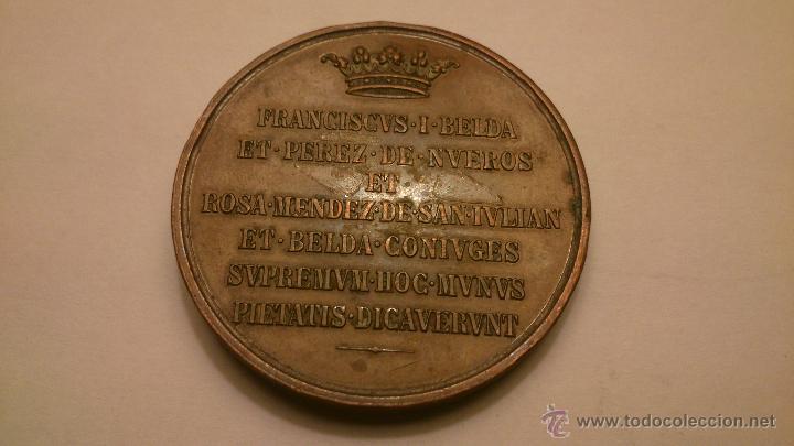 Trofeos y medallas: Francisco Belda y Pérez de Nueros y Rosa Méndez de San Julián (Marquesa de Cabra) Bronce - Foto 2 - 53632000