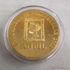 Trofeos y medallas: MEDALLA ANFIL / EXPOSICION FILATELICA FILABARNA 2003. Lote 53814626
