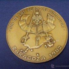 Trofeos y medallas: MEDALLA CONMEMORATIVA DÍA FUERZAS ARMADAS EN ZARAGOZA EN 1982. Lote 54298338