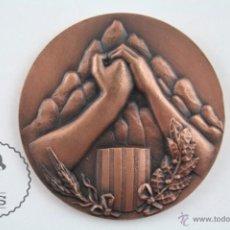 Trofeos y medallas: MEDALLA CONMEMORATIVA - XL AI. FUNDACIÓ CONG. N.S. ESTRADA - FILATELIA / NUMISMÁTICA- DIÁMETRO 50 MM. Lote 179215496
