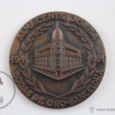 Trofeos y medallas: MEDALLA BODAS DE ORO ALMACENES JORBA, BARCELONA. I EXPOSICIÓN FILATÉLICA REGIONAL 1961 - DIÁM 40 MM. Lote 54630743