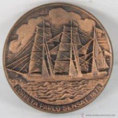 Trofeos y medallas: M-328. MEDALLA EN BRONCE. XXI SALON NAUTICO INTERNACIONAL. 1983.. Lote 45515175