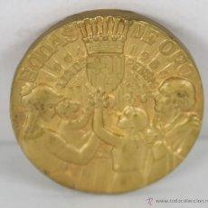 Trofeos y medallas: M-341. MEDALLA BODAS DE ORO CAJA DE PENSIONES PARA LA VEJEZ Y DE AHORRO. 1954.. Lote 45622826