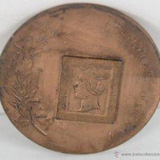Trofeos y medallas: M-349. MEDALLA EN BRONCE III EXPOSICION FILATELICA Y NUMISMATICA DE GRANOLLERS. 1956.. Lote 45627139
