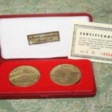 Trofeos y medallas: M-419 - LOTE DE 2 MEDALLAS CONMEMORATIVAS. MUNDIAL-82. BRONCE. ESPAÑA. 1982.. Lote 54828492