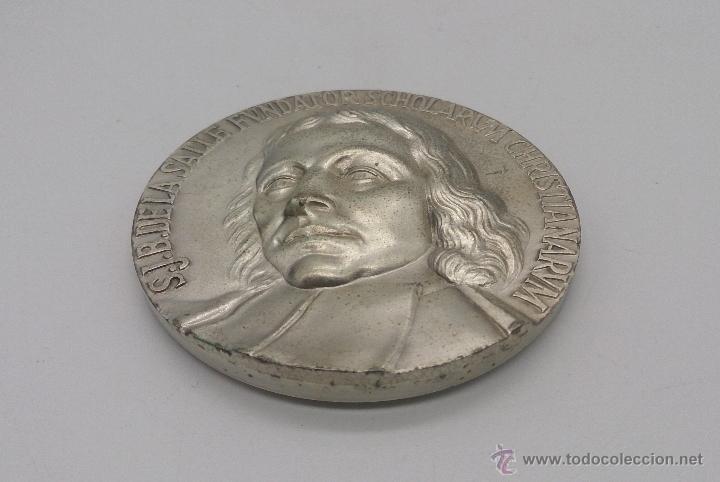 Trofeos y medallas: Moneda conmemorativas de Juan Bautista de Lasalle fundador de la congregación de Escuelas Cristianas - Foto 3 - 54857399