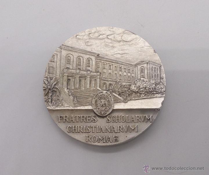 Trofeos y medallas: Moneda conmemorativas de Juan Bautista de Lasalle fundador de la congregación de Escuelas Cristianas - Foto 4 - 54857399