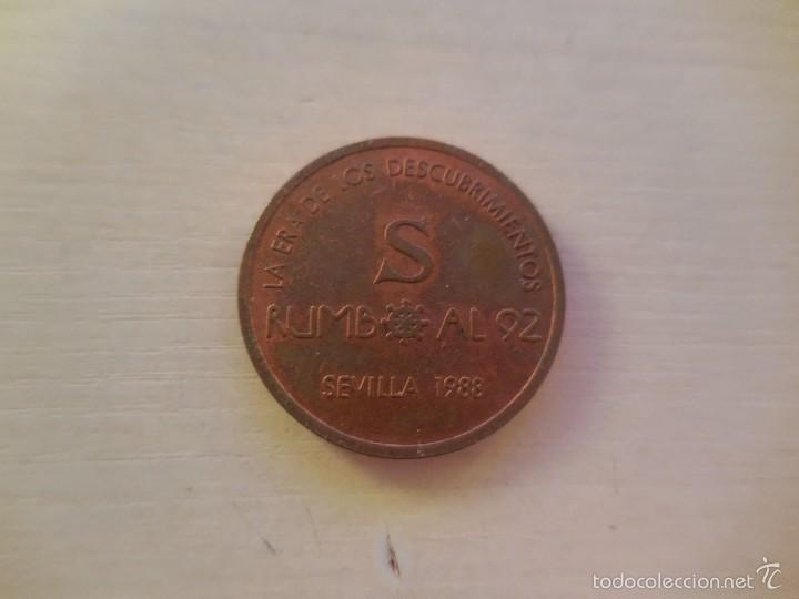 MEDALLA CONMEMORATIVA DE SEVILLA 92 (Numismática - Medallería - Trofeos y Conmemorativas)