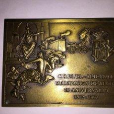 Trofeos y medallas: ALICANTE. ALCOY. COLEGIO OFICIAL DE PERITOS E INGENIEROS TÉCNICOS INDUSTRIALES. 50 ANIVERSARIO.. Lote 55354943