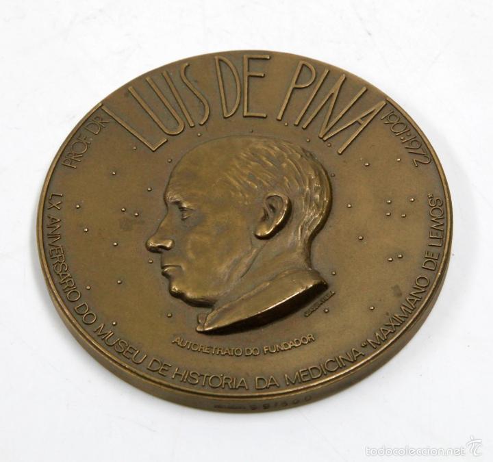 LUIS DE PINA 1901-1972. FACULTAD DE MEDICINA DO PORTO, 8CM DIÁMETRO, LATÓN (Numismática - Medallería - Trofeos y Conmemorativas)