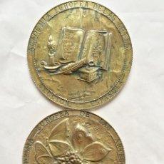 Trofeos y medallas: 2 MEDALLAS ACADEMIA EUROPEA DE LAS ARTES SECCION ESPAÑOLA 1994 ANGELA CRESPO PEREIRA MEDALLA. Lote 55699760