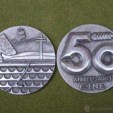 Trofeos y medallas: LOTE DOS PLACAS O MEDALLAS CONMEMORATIVAS: 50 ANIVERSARIO C.T.N.E. (1924 - 1974 ). Lote 56028713