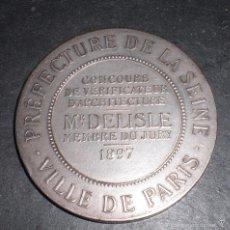 Trofeos y medallas: MEDALLA FRANCESA PARIS ARQUITECTURA 1897. Lote 56053111