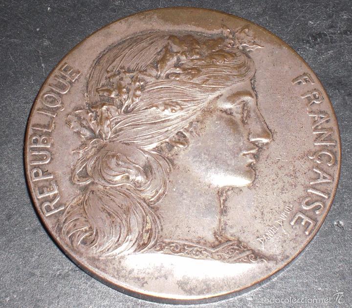 Trofeos y medallas: Medalla francesa Paris Arquitectura 1897 - Foto 2 - 56053111