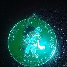 Trofeos y medallas: -A CORUÑA- TROFEO LICEO , JUDO -LA PAZ- LA CORUÑA- MEDALLA ESMALTADA. Lote 56550656