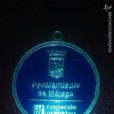 Trofeos y medallas: MÁLAGA -ESCUDO-FUNDACION DEPORTIVA- AYUNTAMIENTO DE MÁLAGA-MEDALLA TIPO II-PLATA-. Lote 75744514