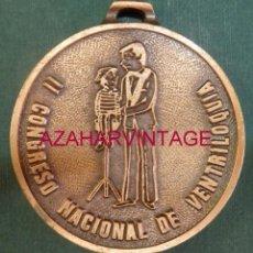 Trofeos y medallas: CIRCO,MEDALLA CONMEMORATIVA II CONGRESO NACIONAL DE VENTRILOQUIA,6 CMS DE DIAMETRO. Lote 57735707