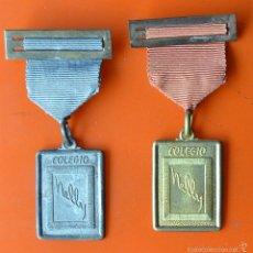Trofeos y medallas: 2 MEDALLAS CON CINTA Y PASADOR - COLEGIO NELLY. Lote 57080607