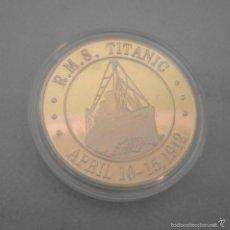 Trofeos y medallas: MONEDA - MEDALLA CONMEMORATIVA DE LOS 100 AÑOS DEL HUNDIMIENTO DEL TITANIC. Lote 57441465