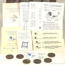 Trofeos y medallas: M-321 - LOTE DE 11 EJEM. Y 6 MEDALLAS(VER DESCRIP). XX-XXII. CERTAMEN INTER. DEL CINEMA. 1993/95.. Lote 57744653