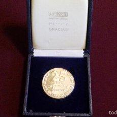 Trofeos y medallas: MEDALLA 25 AÑOS DE LA ONCE. Lote 57939226