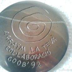 Trofeos y medallas: MEDALLA / MEDALLÓN CONMEMORATIVO XXV JUEGOS OLÍMPICOS BARCELONA 1992. Lote 58076912