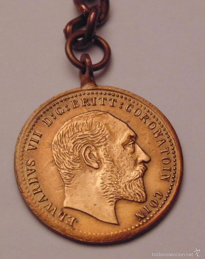 Trofeos y medallas: Medalla británica de la coronación de Eduardo VII, 1902 - Foto 2 - 61278643